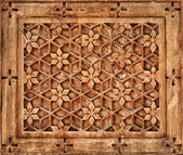 Floral ornament on stone wall in Jaisalmer, India — Stock Photo