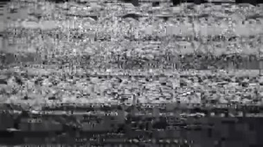1920x1080 hidef, hdv - noise on TV screen, black and white — Stock Video