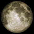 Full moon with surface details  — Stock Photo