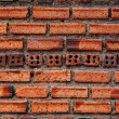 Old red vintage grunge brick wall background — Stock Photo