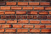 Old red vintage grunge brick wall background — Foto Stock