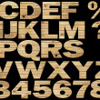 Stock Photo: Set - wooden alphabet on a black background