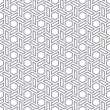 Stok Vektör: Hexagons gray vector seamless background