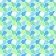 Vector seamless pattern - abstract blue & green pastel color wra - 图库矢量图片