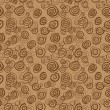 Vector abstract chocolate pattern - seamless background — Stock Vector
