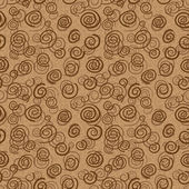 Vector abstract chocolate pattern - seamless background — Stok Vektör