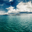 Tropical nature landscape with sea and clouds — Stock Photo