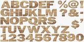 Trä alfabetet isolerad på vit — Stockfoto