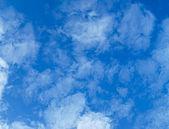 Light, transparent cumulus clouds - zenith of sky — Stock Photo
