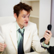 Royalty-Free Stock Photo: Very angry businessman in office