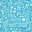 Electronic digital circuit board - seamless vector pattern — Stok Vektör