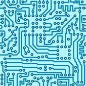 Elektronik devre kartı - dikişsiz vektör desen dijital — Stok Vektör
