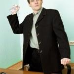 Director on a workplace with paper — Zdjęcie stockowe #2269104