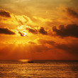 Sunset over the ocean. Vertical high resolution panorama. — Stock Photo #22940286