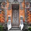 Royalty-Free Stock Photo: Door - traditional asian Balinese carved