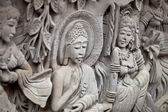 Bas-relief - story of Buddha's life — Stock Photo