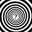 1920x1080 video - Hypnotic turning spiral and a question mark - Stock Photo