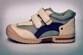 Vintage sport scarpe da pelle sintetica — Foto Stock