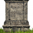 Stock Photo: Large headstone monument on white background
