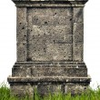 Large headstone monument on white background — Stock Photo