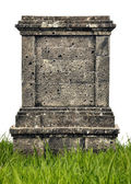 Large headstone monument on white background — 图库照片