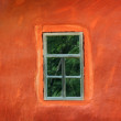 Window on the wall of an ancient house — Stock Photo