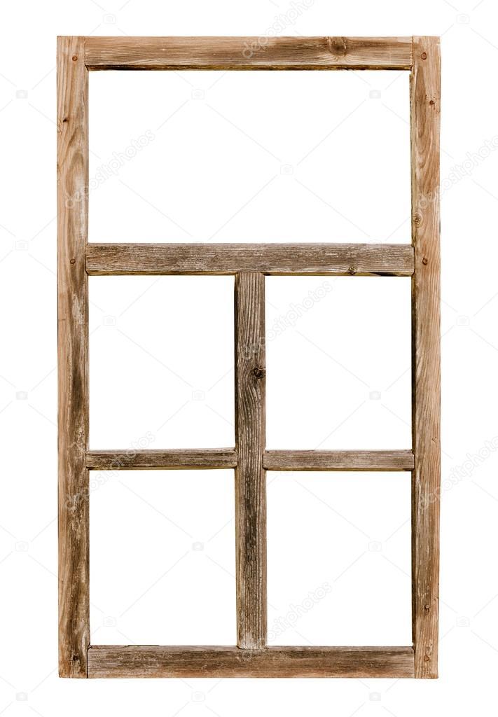 Telaio in legno d 39 epoca semplice finestra isolato su - Telaio finestra legno ...