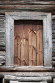 Old wooden rural door close-up — Stock Photo