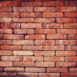 Vintage red brick wall background — Stock Photo