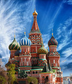 St. Basil's Cathedral on Red Square in Moscow — Stok fotoğraf