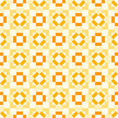 Retro seamless geometric orange vector pattern — Stock Vector