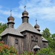 Big old wooden orthodox church — Stock Photo #26483607