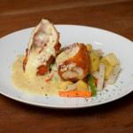 Chicken Cordon Bleu — Stock Photo