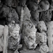 Religious stone statues. Indonesia, Bali — Stock Photo