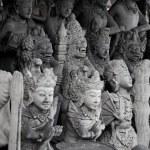 Religious stone statues. Indonesia, Bali — Stock Photo