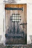Weathered door of an old building — Stock Photo