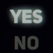 Yes and no on computer screen. Confirm and rejection concept — Stock Photo