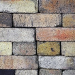 Stacked fireproof bricks background — Stock Photo