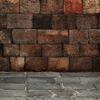 Stone blocks wall and floor - medieval architecture — Stock Photo