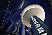 Modern futuristic office buildings exteriors — Stock Photo