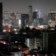 Panorama of night city - Thailand, Bangkok — Stock Video