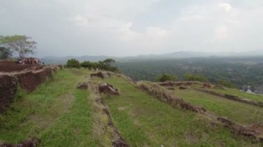 View from the top of a famous hill. Sigiriya, Sri Lanka — Stock Video