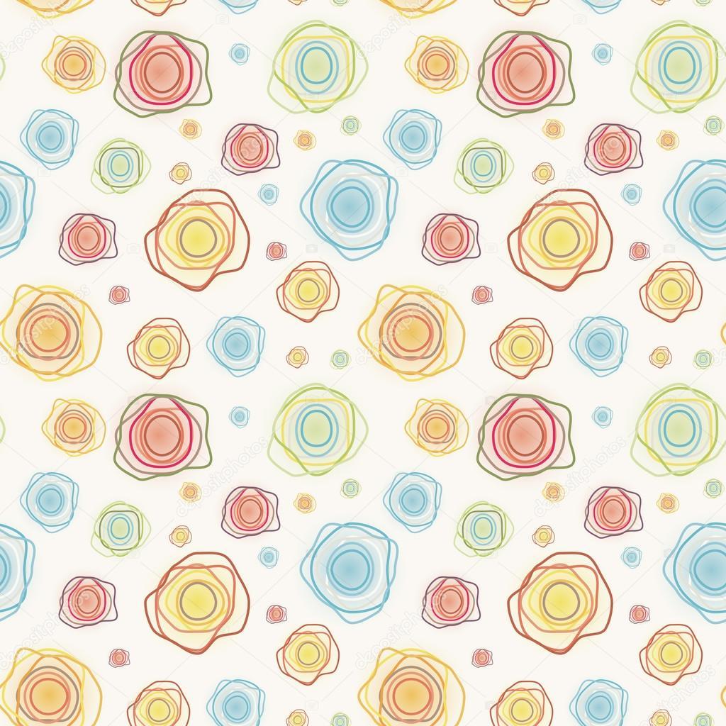 patrón sin costuras abstracto vector vintage - color curvas círculos