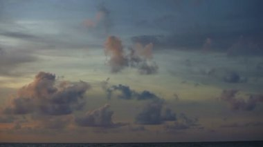 Video 1920x1080 - Cloudy sky over the ocean. Timelapse — Stock Video