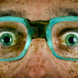 Frightened look of a man in old glasses — Stock Photo #28710883