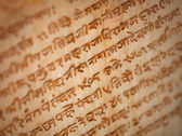 Ancient inscriptions on the tomb of the Indian monarch — Stock Photo