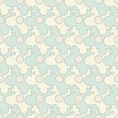 Vector abstact - puzzle inconsútil vintage patrón — Vector de stock