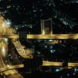 Video 1920x1080 - Car traffic in the night city. Thailand, Bangkok — Stock Video