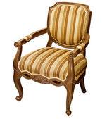 Oude houten fauteuil geïsoleerd op witte achtergrond — Stockfoto