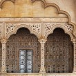 Fragments of traditional Indian architecture — Stock Photo